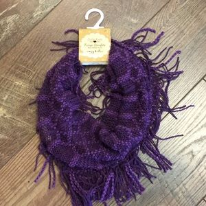 Britt's Knitts purple soft infinity scarf